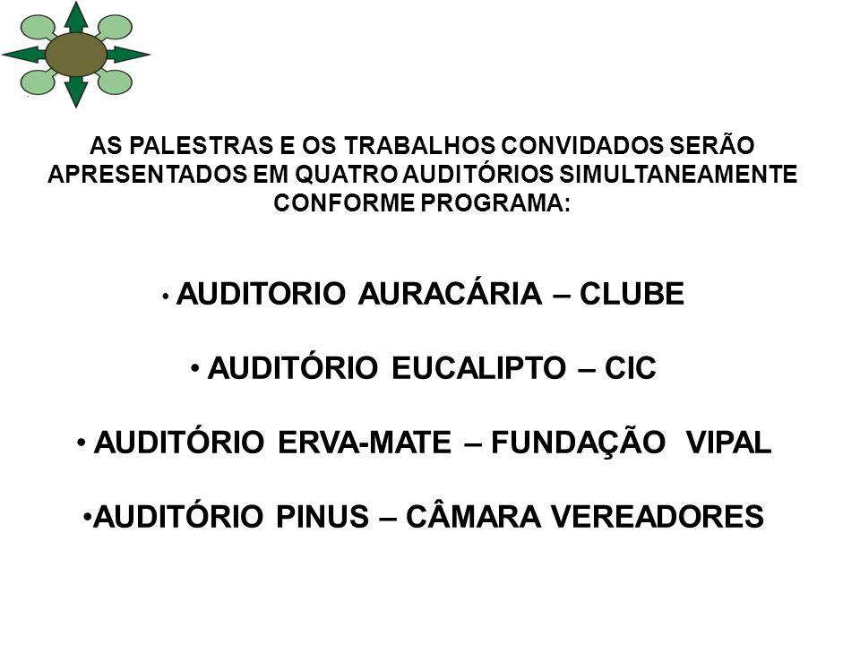 AUDITÓRIO EUCALIPTO – CIC AUDITÓRIO ERVA-MATE – FUNDAÇÃO VIPAL
