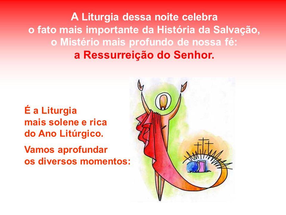 A Liturgia dessa noite celebra a Ressurreição do Senhor.