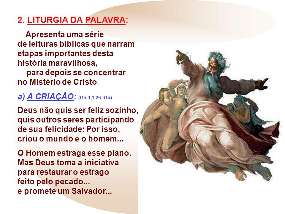 2. LITURGIA DA PALAVRA: a) A CRIAÇÃO: (Gn 1,1.26-31a)