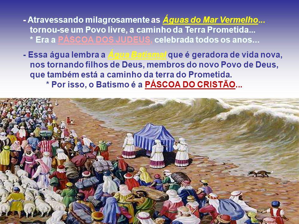 - Atravessando milagrosamente as Águas do Mar Vermelho...