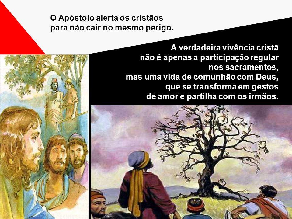 O Apóstolo alerta os cristãos