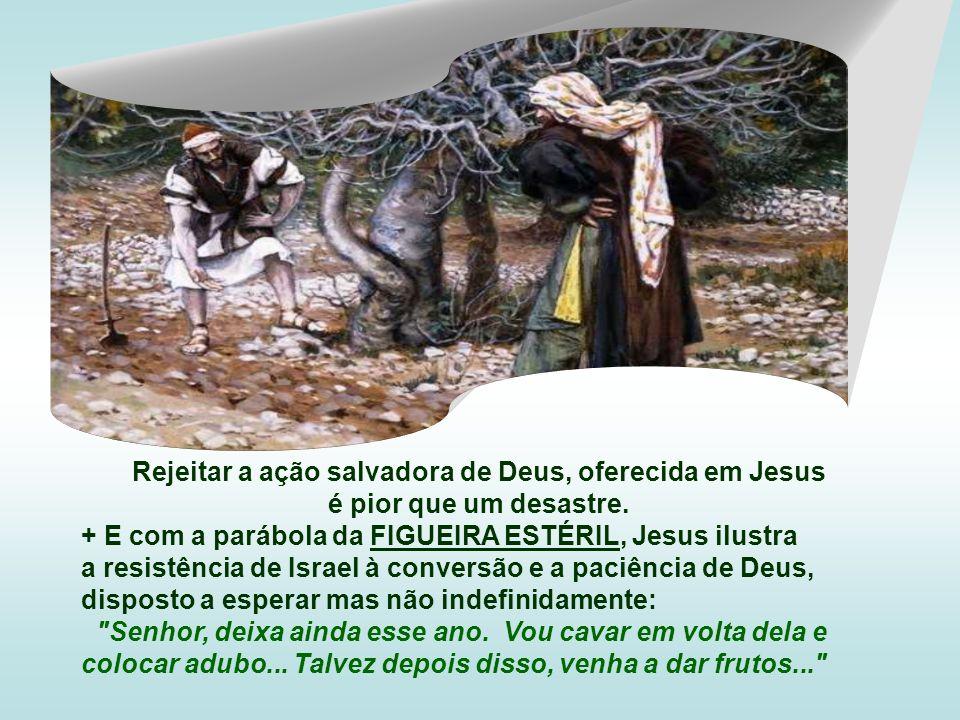 Rejeitar a ação salvadora de Deus, oferecida em Jesus