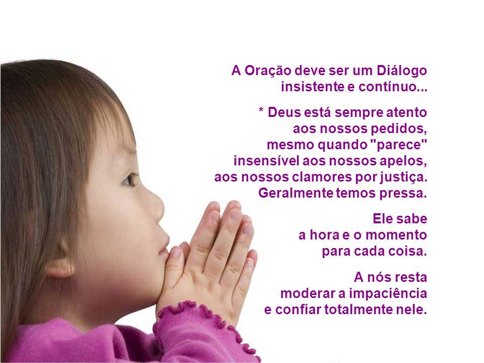 A Oração deve ser um Diálogo