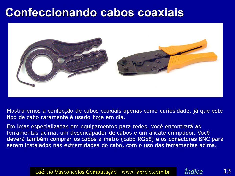 Confeccionando cabos coaxiais