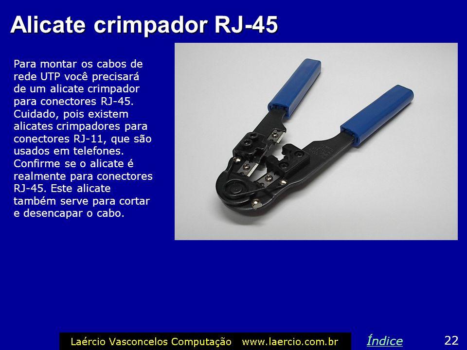 Alicate crimpador RJ-45 Índice 22