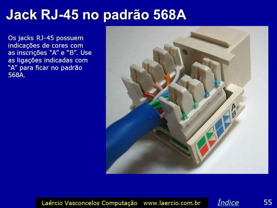 Jack RJ-45 no padrão 568A Índice 55