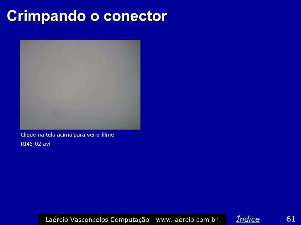 Crimpando o conector Índice 61 Clique na tela acima para ver o filme