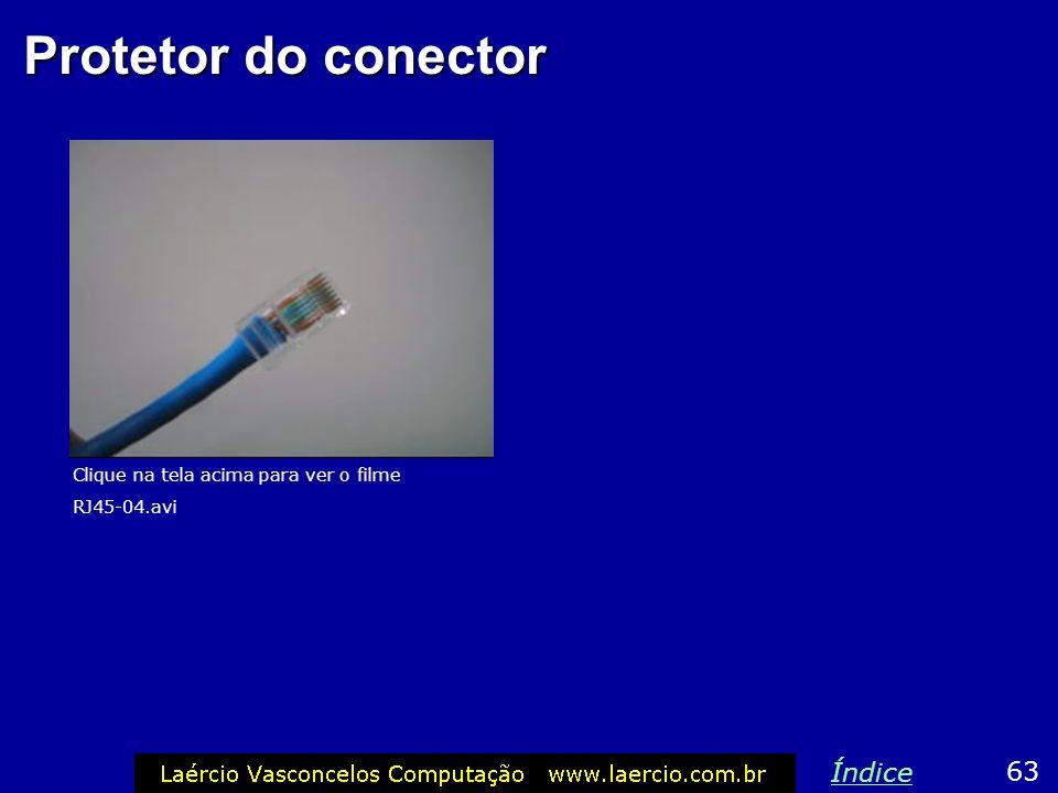 Protetor do conector Índice 63 Clique na tela acima para ver o filme