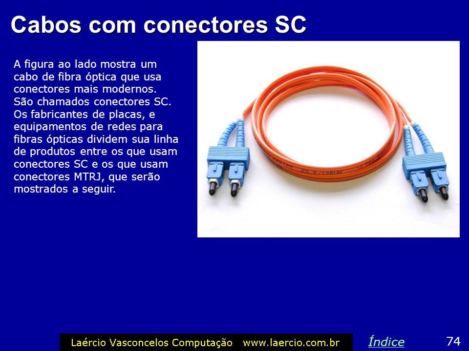 Cabos com conectores SC