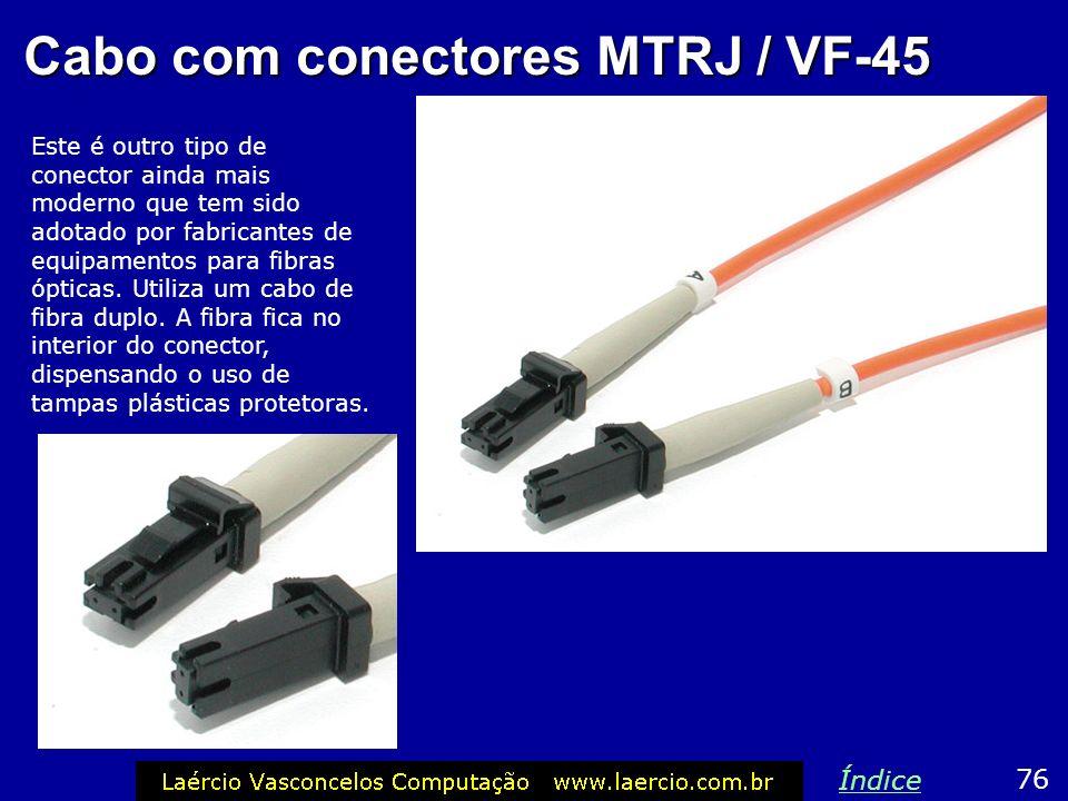 Cabo com conectores MTRJ / VF-45
