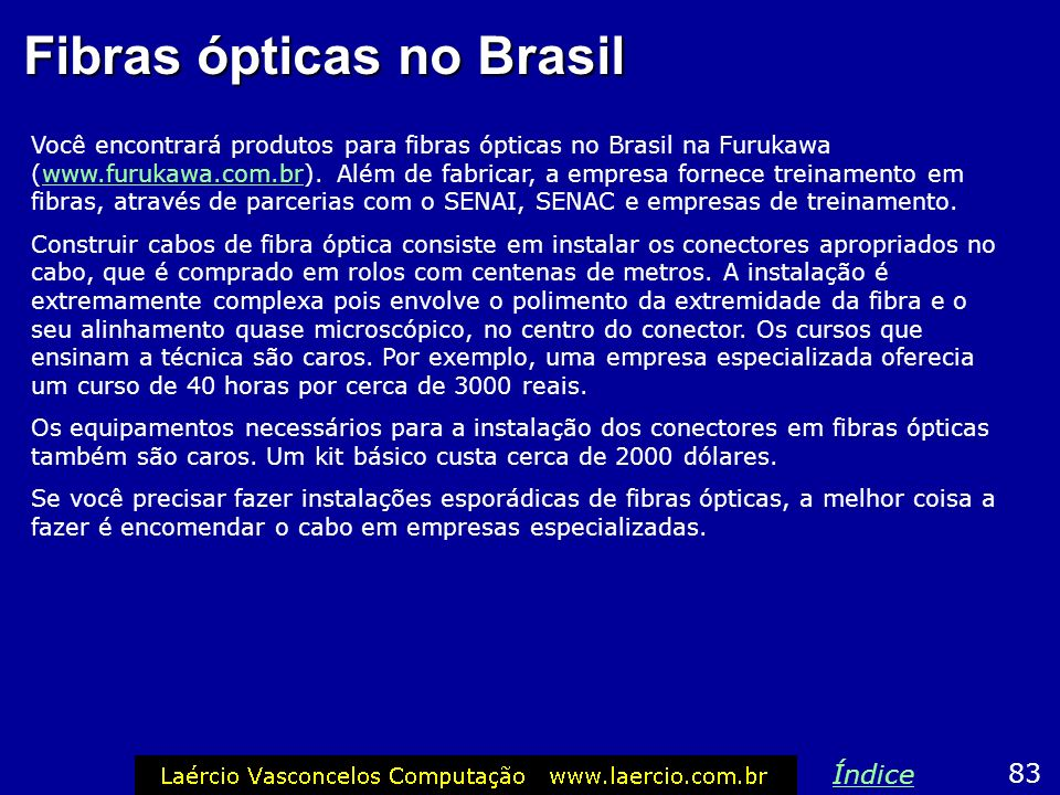 Fibras ópticas no Brasil