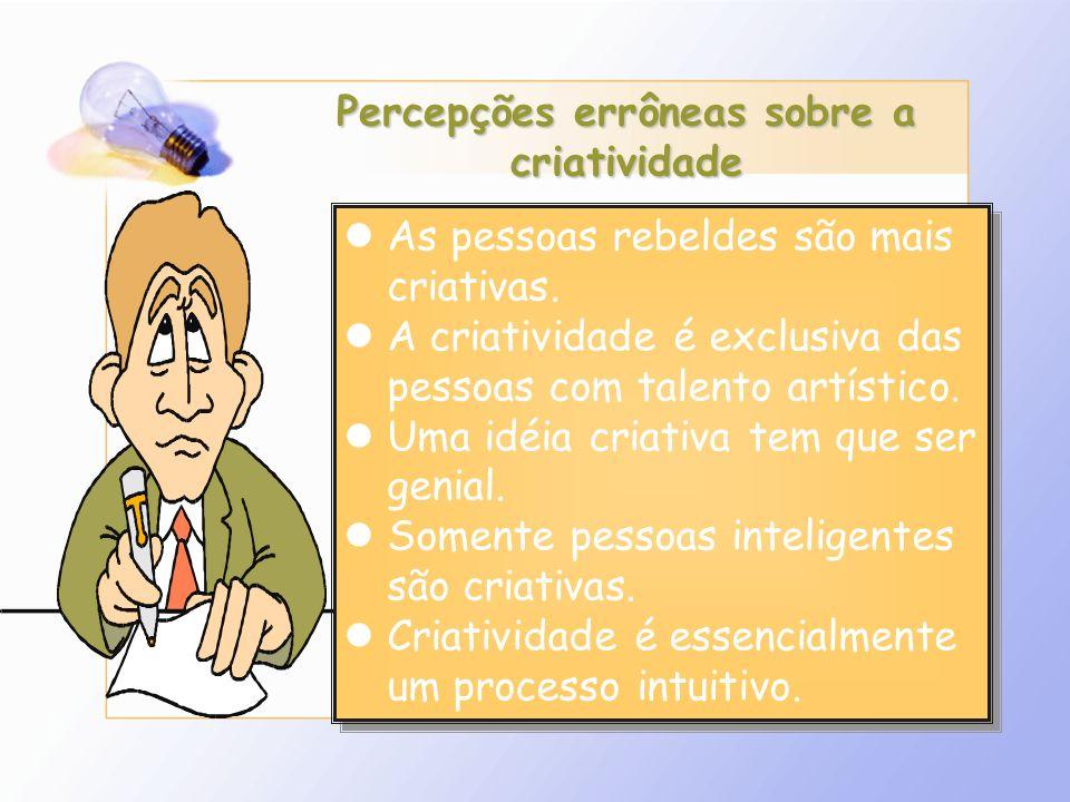 Percepções errôneas sobre a criatividade