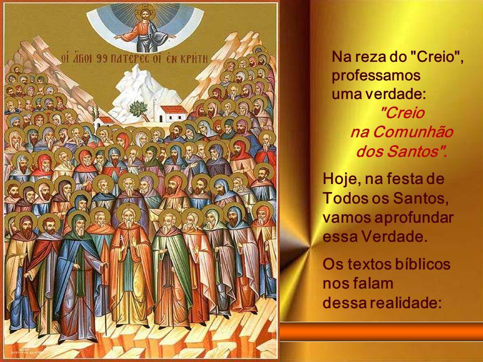 Hoje, na festa de Todos os Santos, vamos aprofundar essa Verdade.
