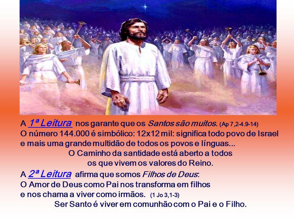 A 1ª Leitura nos garante que os Santos são muitos. (Ap 7,2-4.9-14)