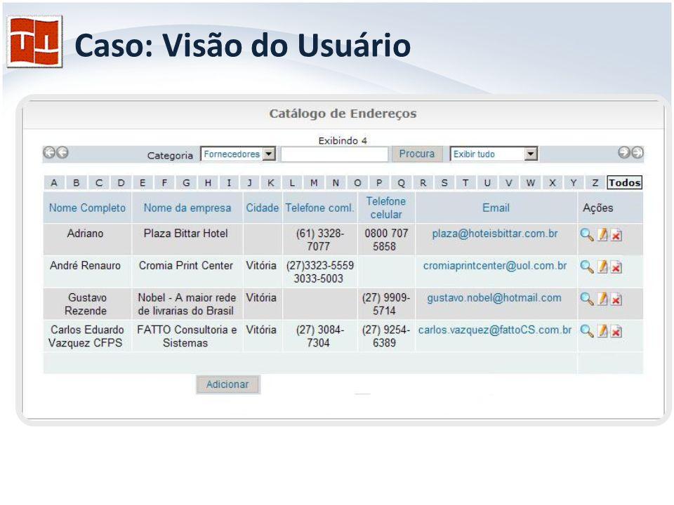 Caso: Visão do Usuário