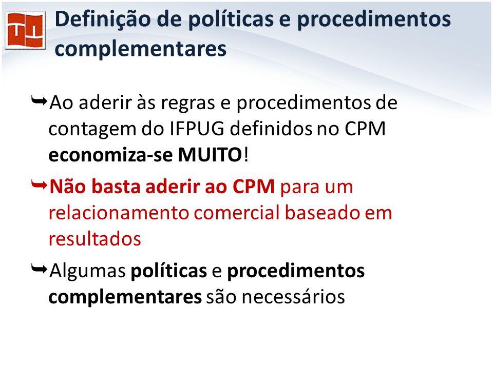 Definição de políticas e procedimentos complementares