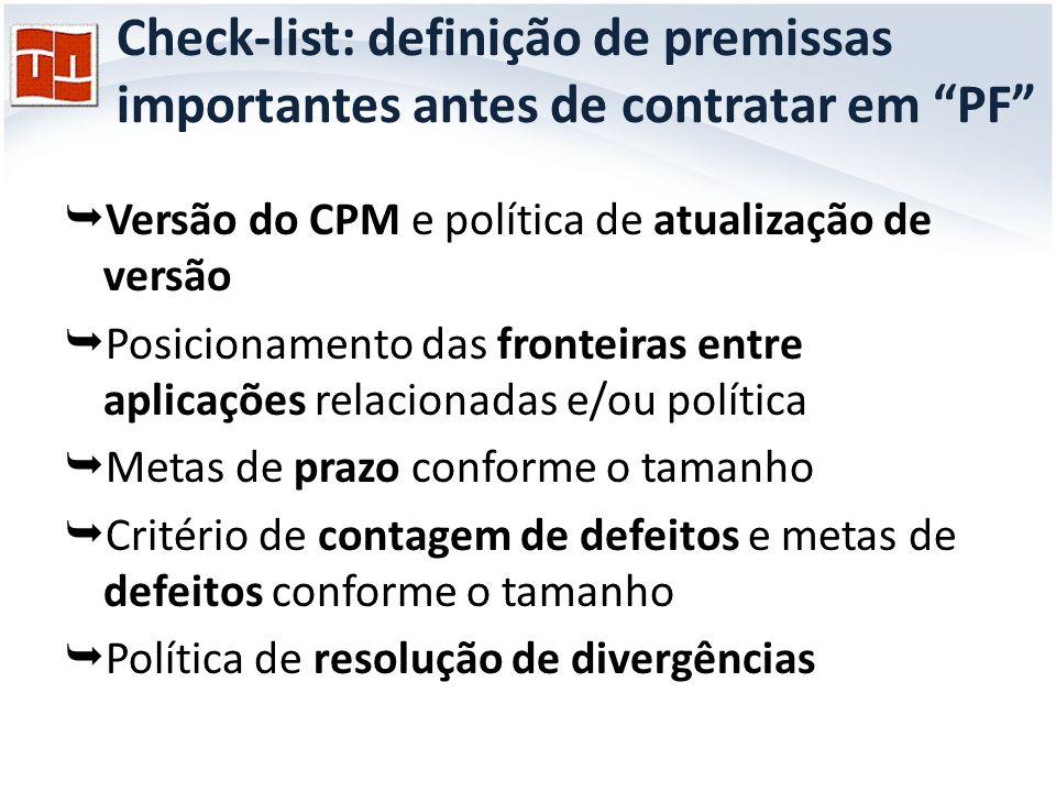 Check-list: definição de premissas importantes antes de contratar em PF