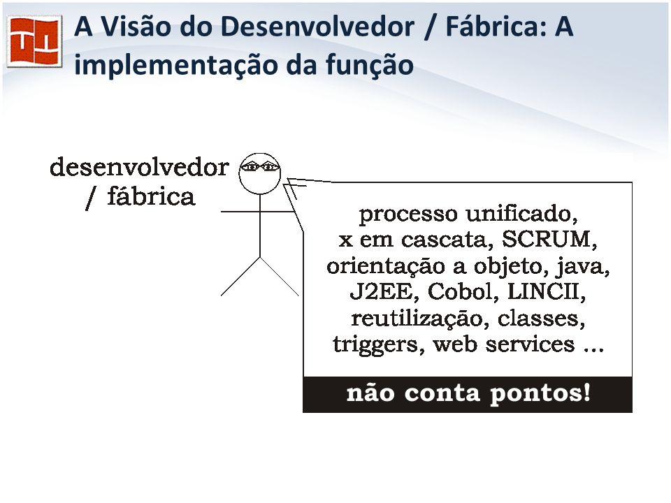A Visão do Desenvolvedor / Fábrica: A implementação da função