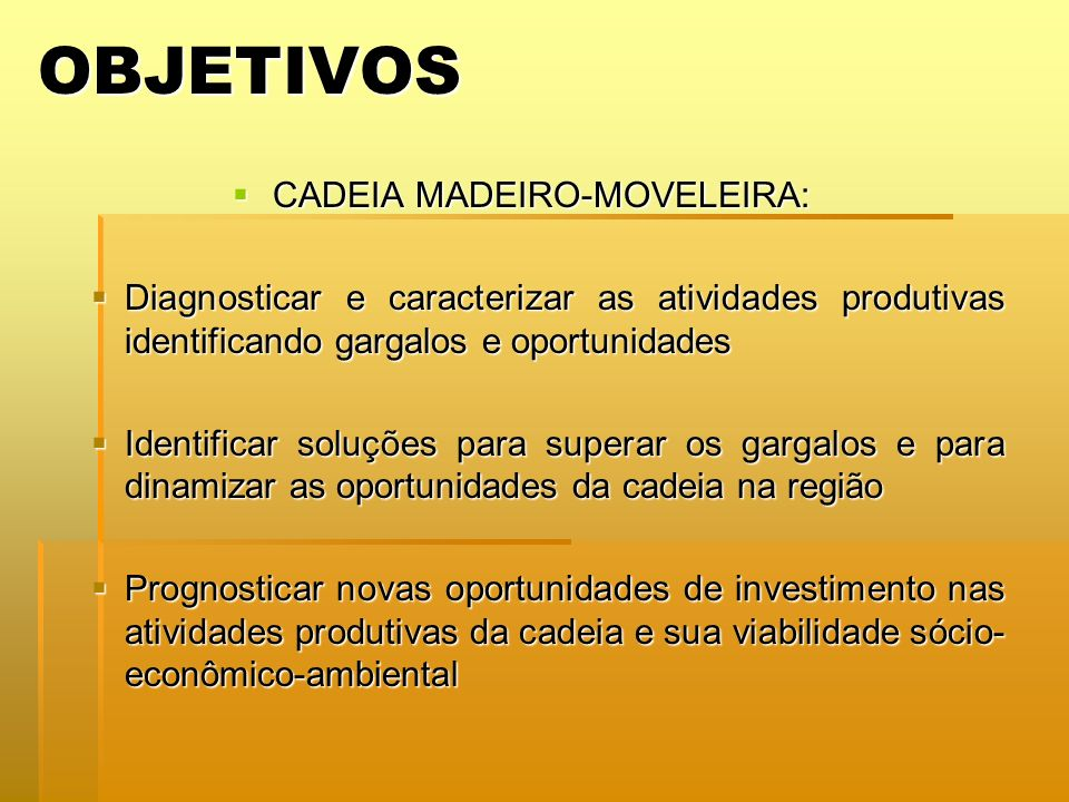 CADEIA MADEIRO-MOVELEIRA: