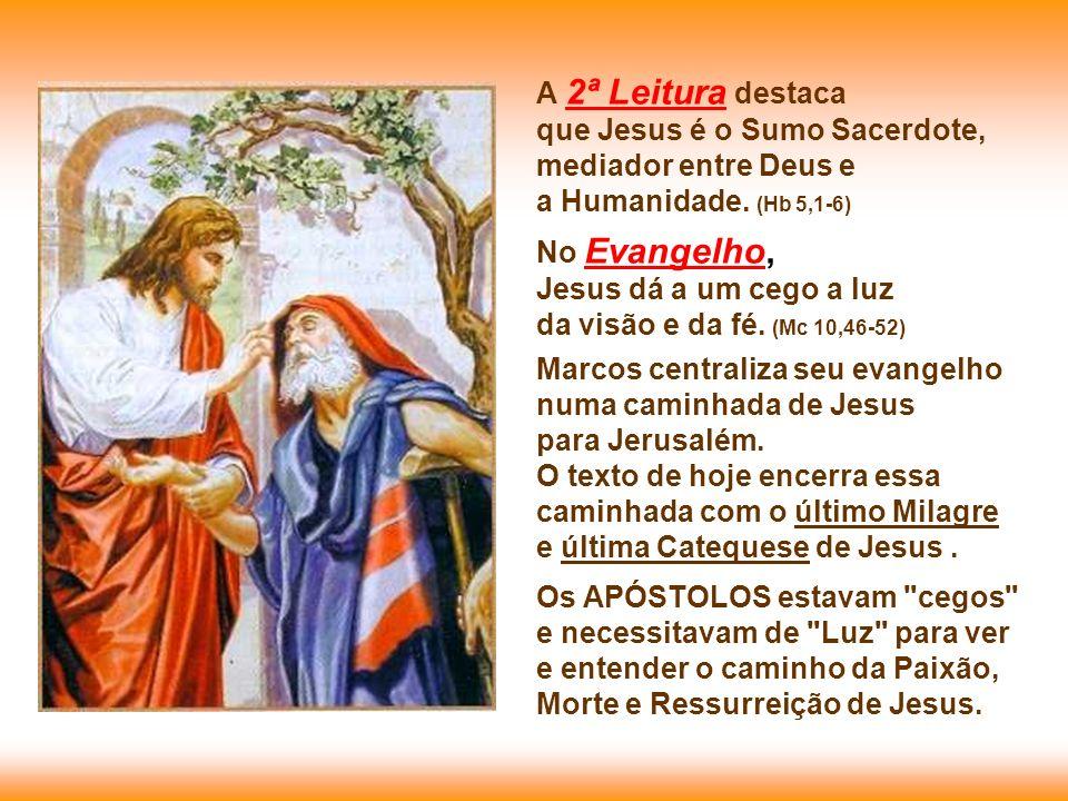 A 2ª Leitura destaca que Jesus é o Sumo Sacerdote,