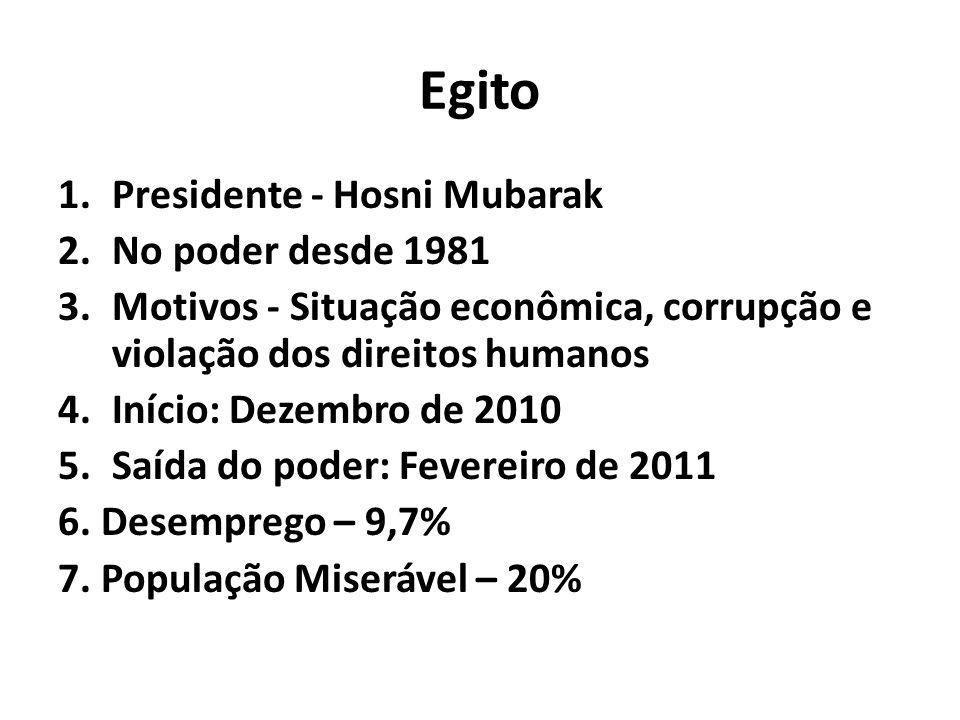 Egito Presidente - Hosni Mubarak No poder desde 1981