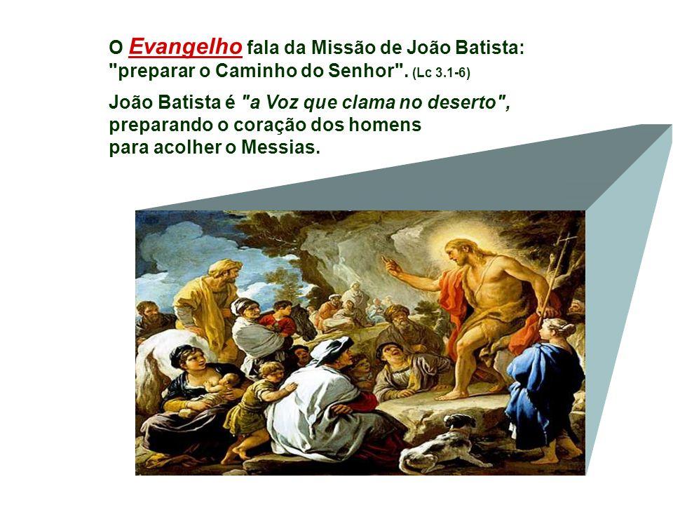 O Evangelho fala da Missão de João Batista: