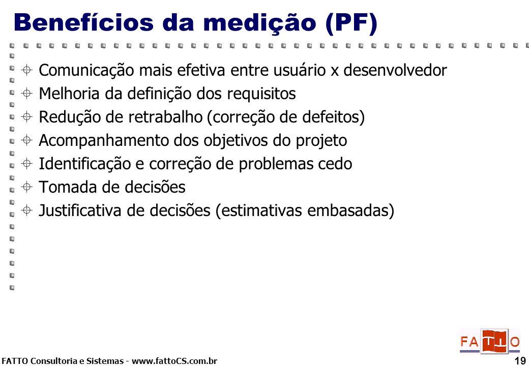 Benefícios da medição (PF)