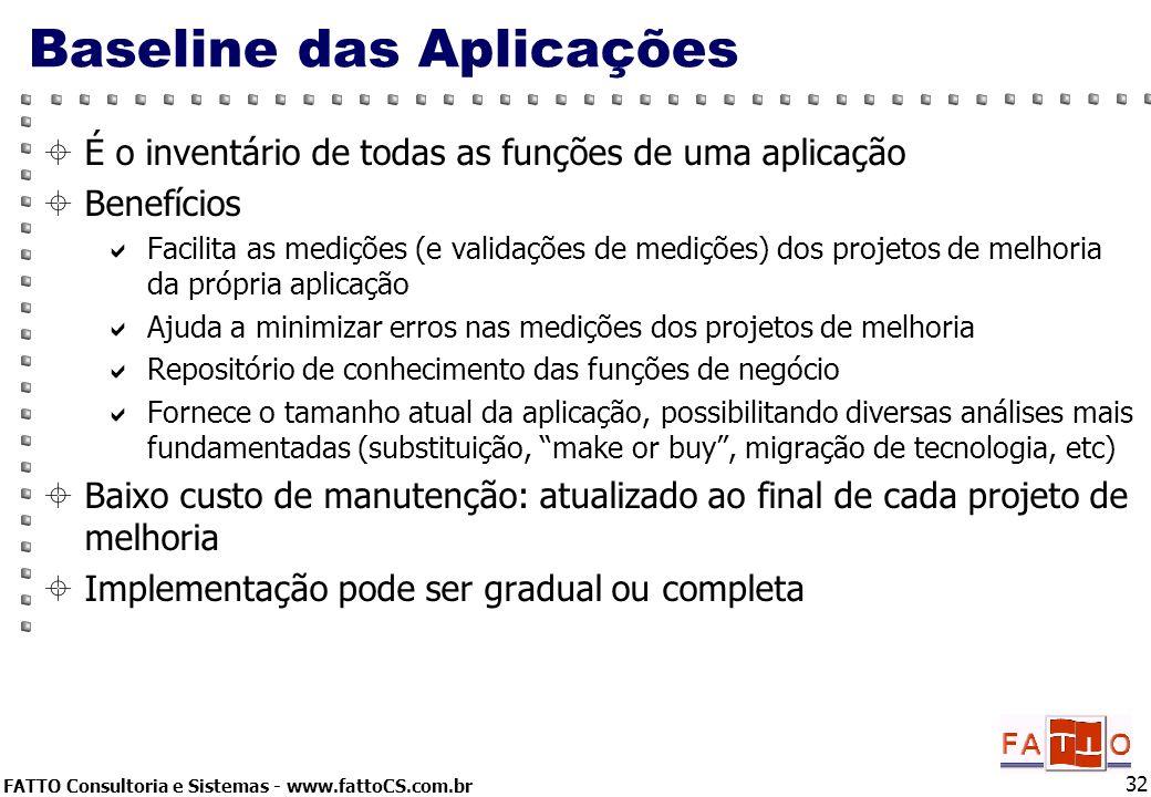 Baseline das Aplicações