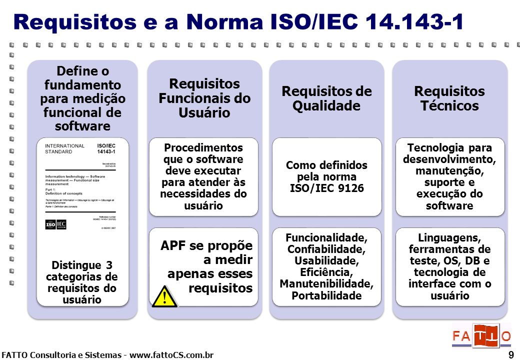 Requisitos e a Norma ISO/IEC
