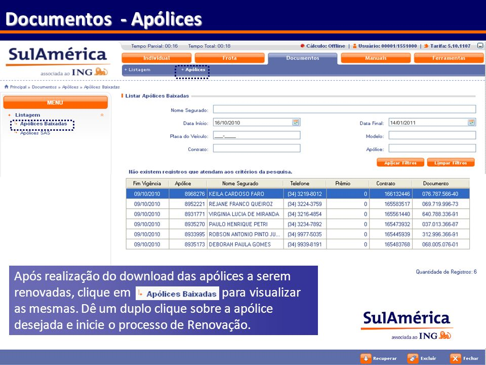 Documentos - Apólices