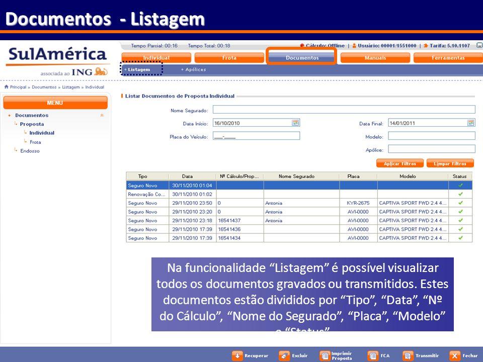 Documentos - Listagem