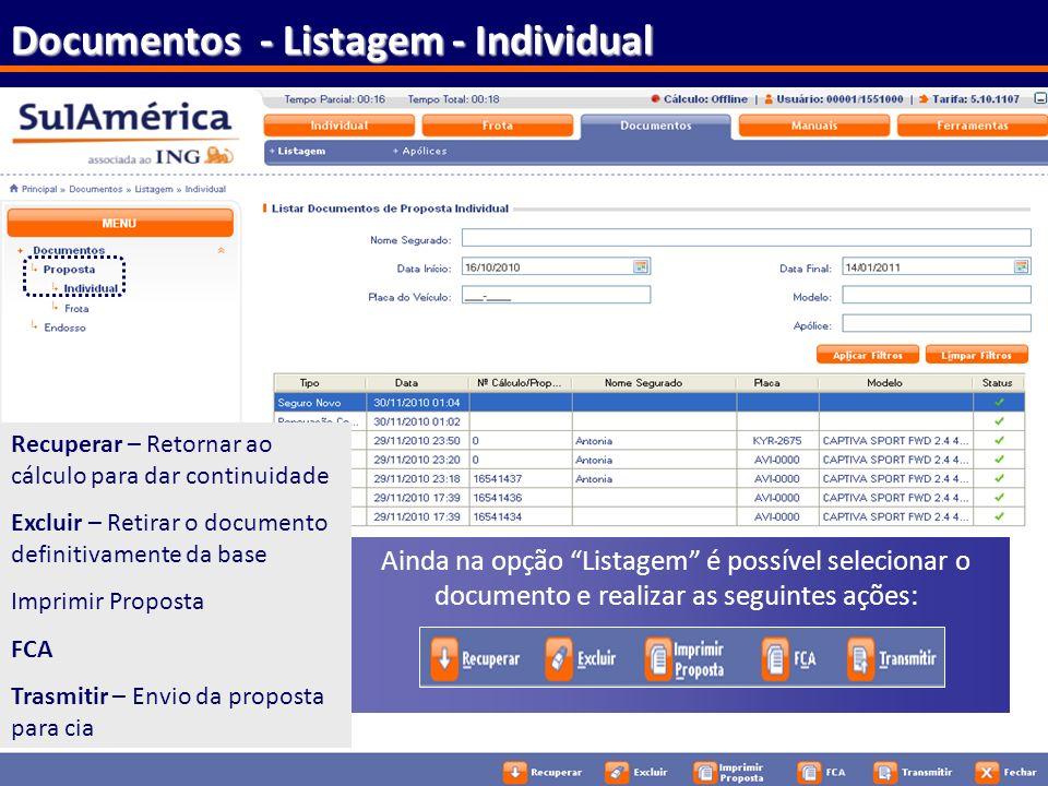Documentos - Listagem - Individual