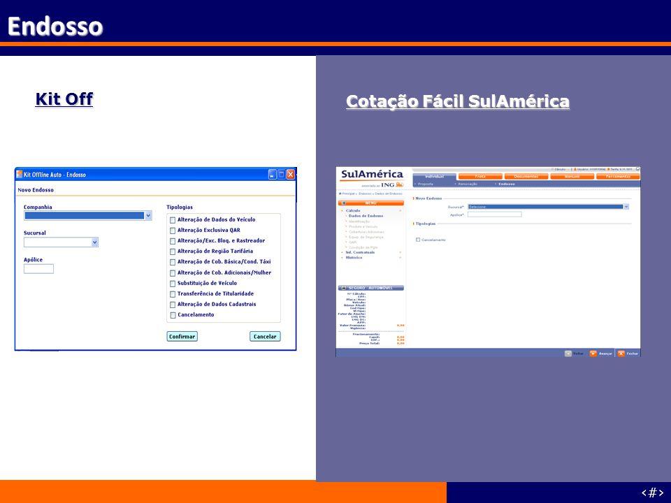 Endosso Kit Off Cotação Fácil SulAmérica