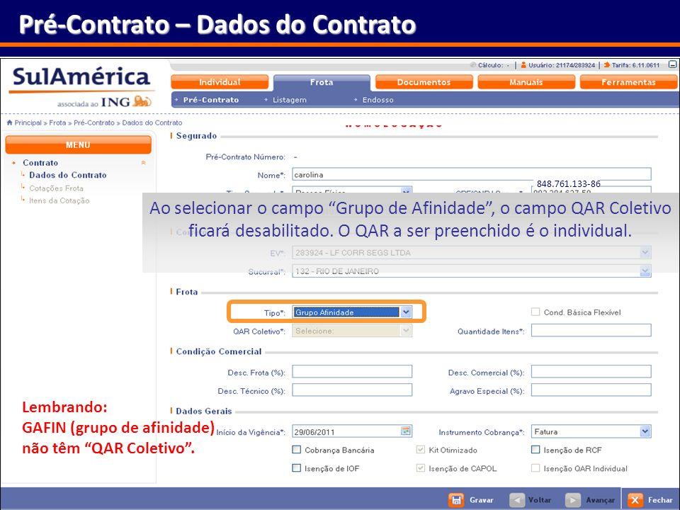 Pré-Contrato – Dados do Contrato