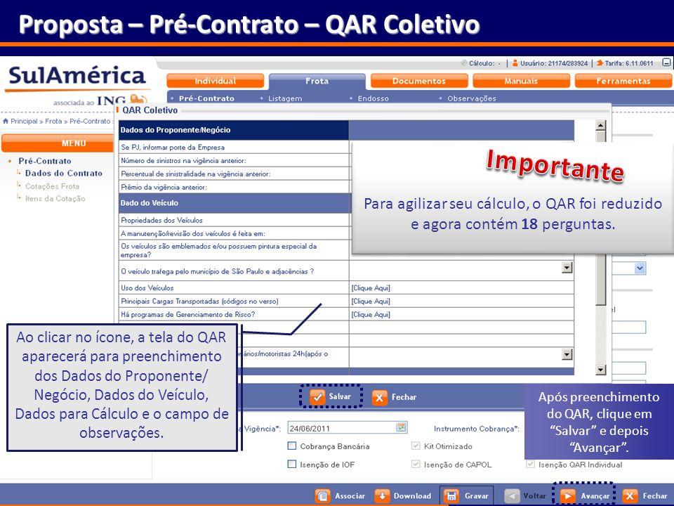 Proposta – Pré-Contrato – QAR Coletivo