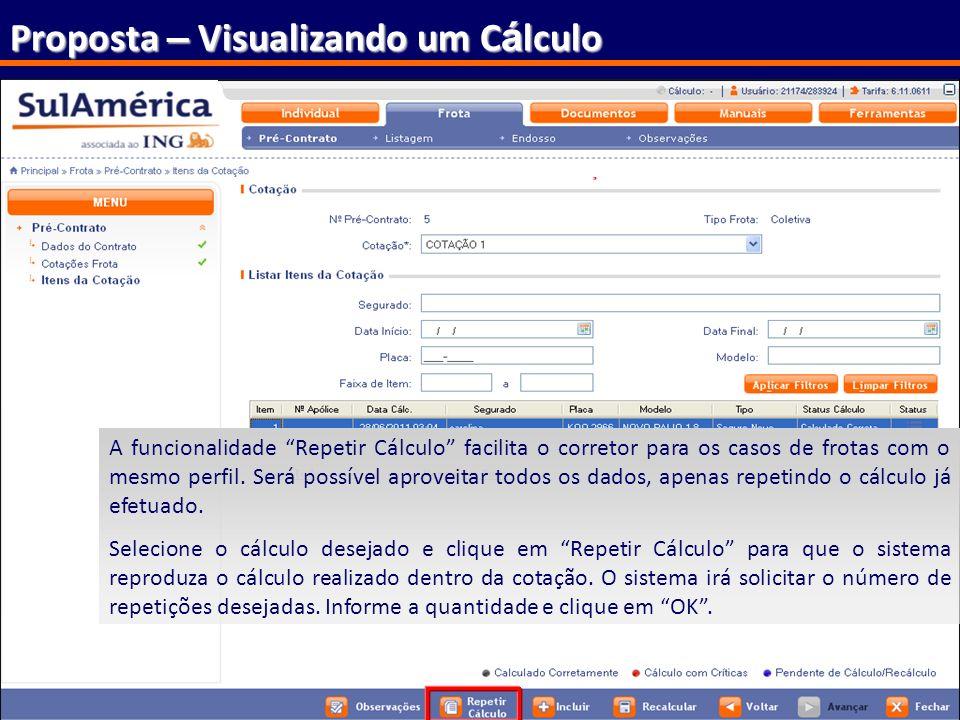 Proposta – Visualizando um Cálculo