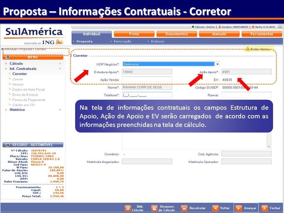 Proposta – Informações Contratuais - Corretor