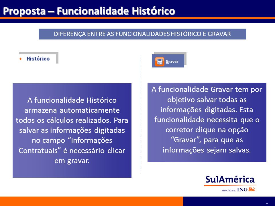 DIFERENÇA ENTRE AS FUNCIONALIDADES HISTÓRICO E GRAVAR
