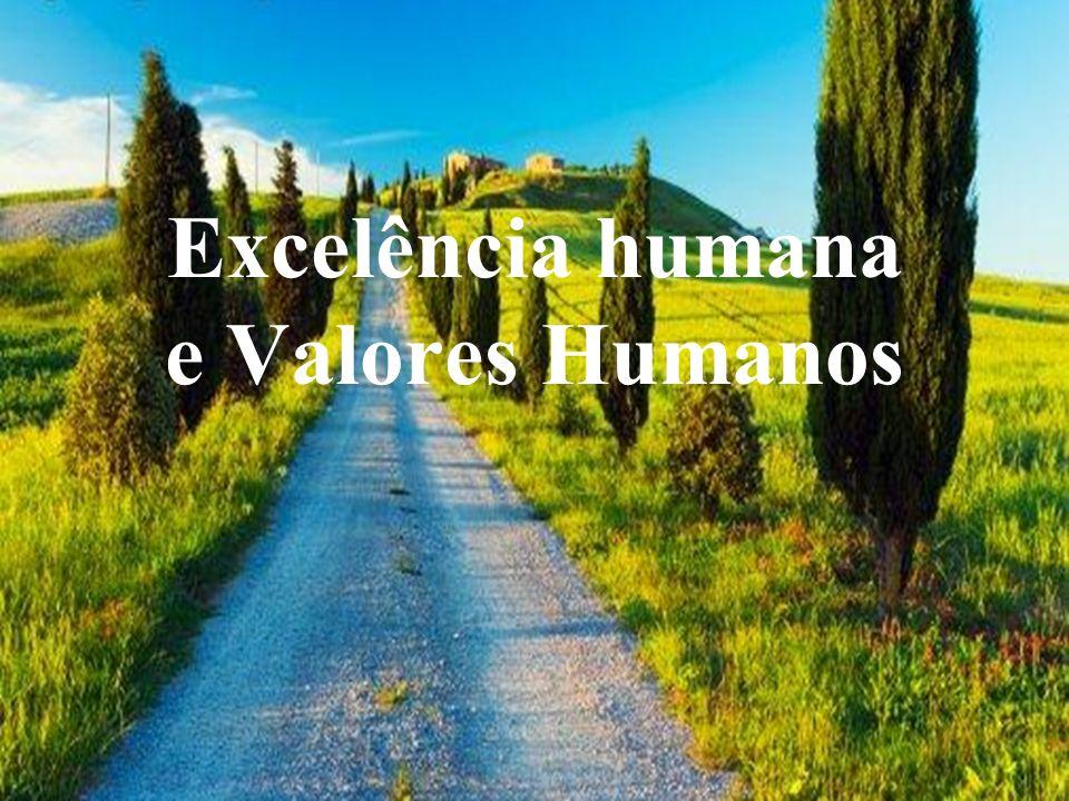 Excelência humana e Valores Humanos