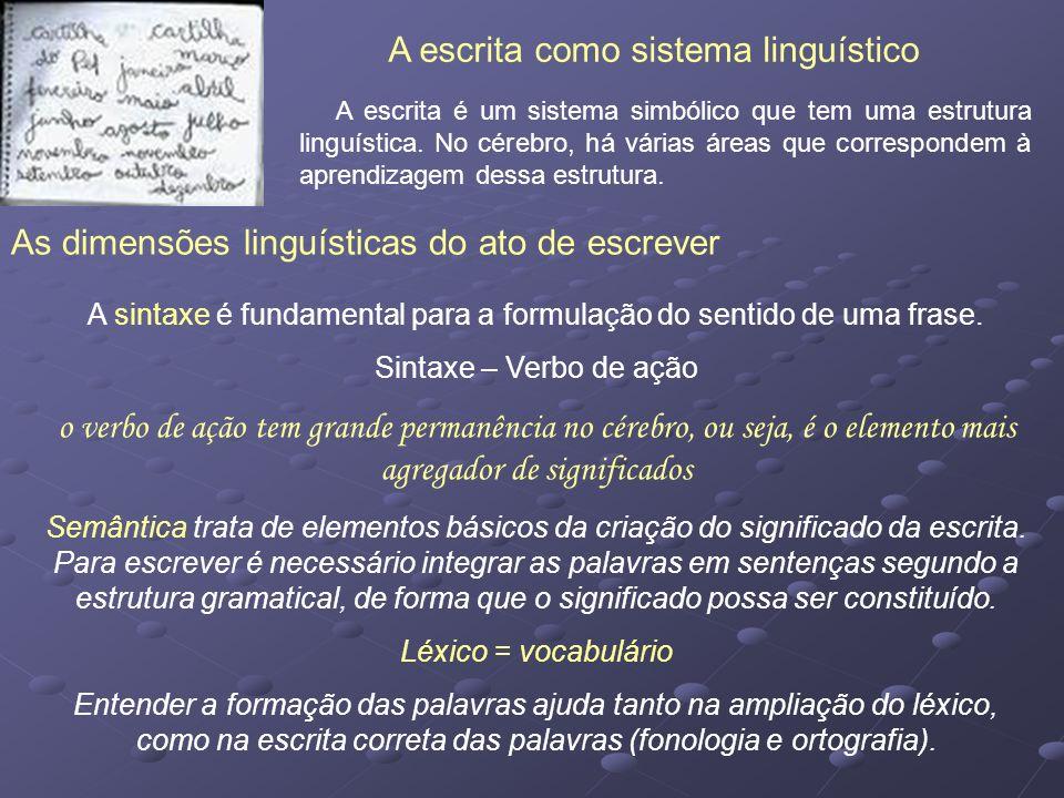 A escrita como sistema linguístico