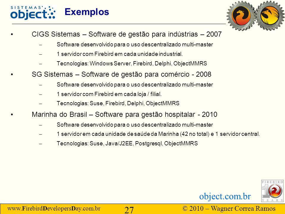 Exemplos CIGS Sistemas – Software de gestão para indústrias – 2007