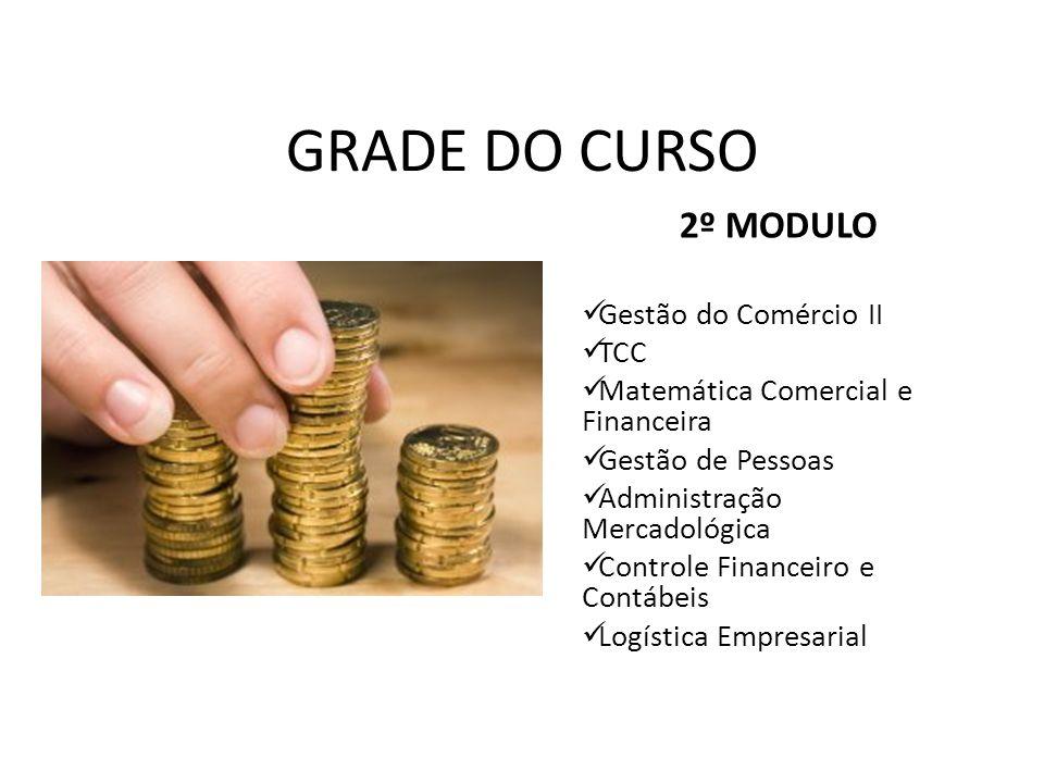 GRADE DO CURSO 2º MODULO Gestão do Comércio II TCC