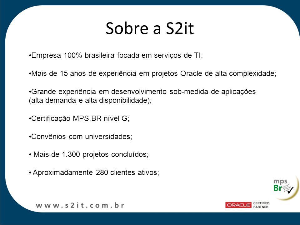 Sobre a S2it Empresa 100% brasileira focada em serviços de TI;