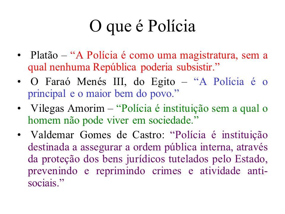 O que é Polícia Platão – A Polícia é como uma magistratura, sem a qual nenhuma República poderia subsistir.