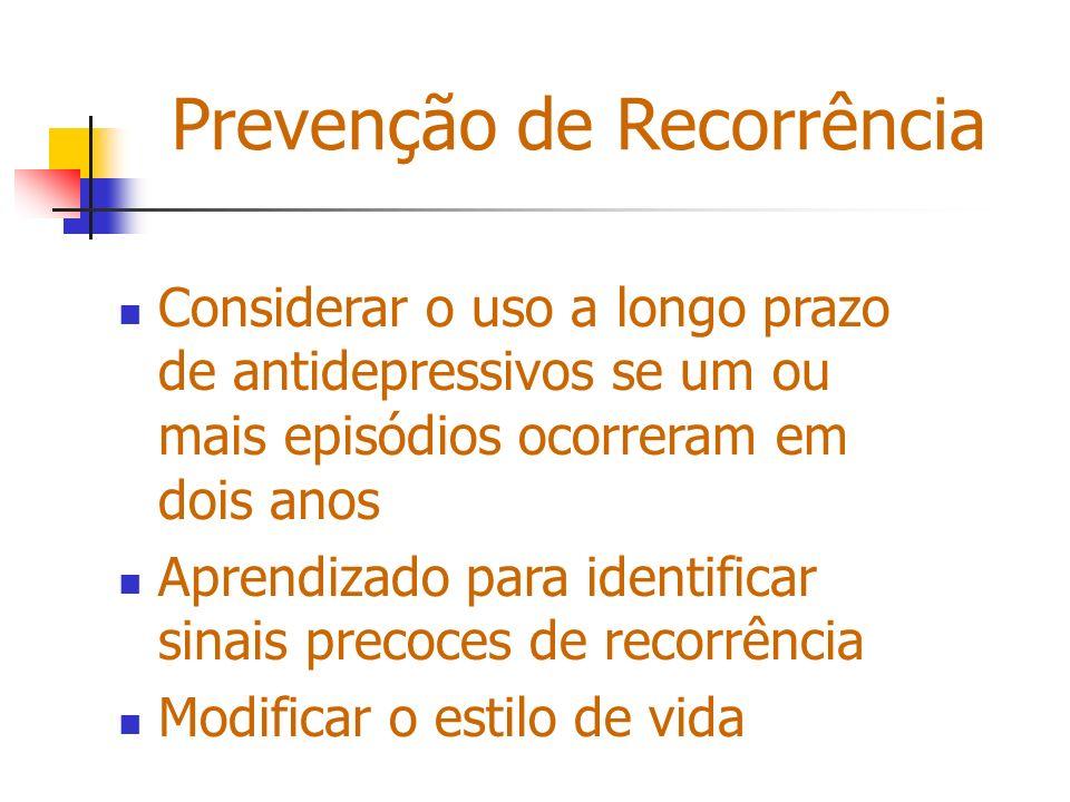 Prevenção de Recorrência
