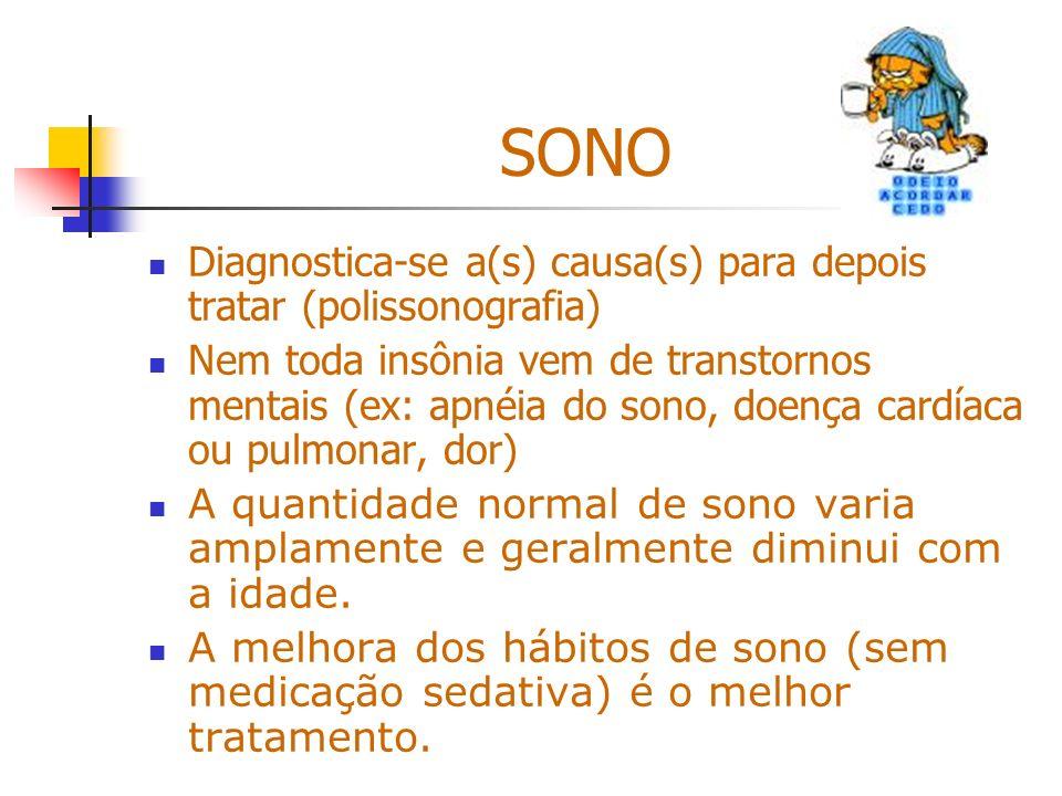 SONO Diagnostica-se a(s) causa(s) para depois tratar (polissonografia)