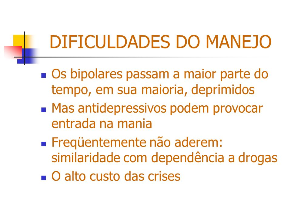 DIFICULDADES DO MANEJO