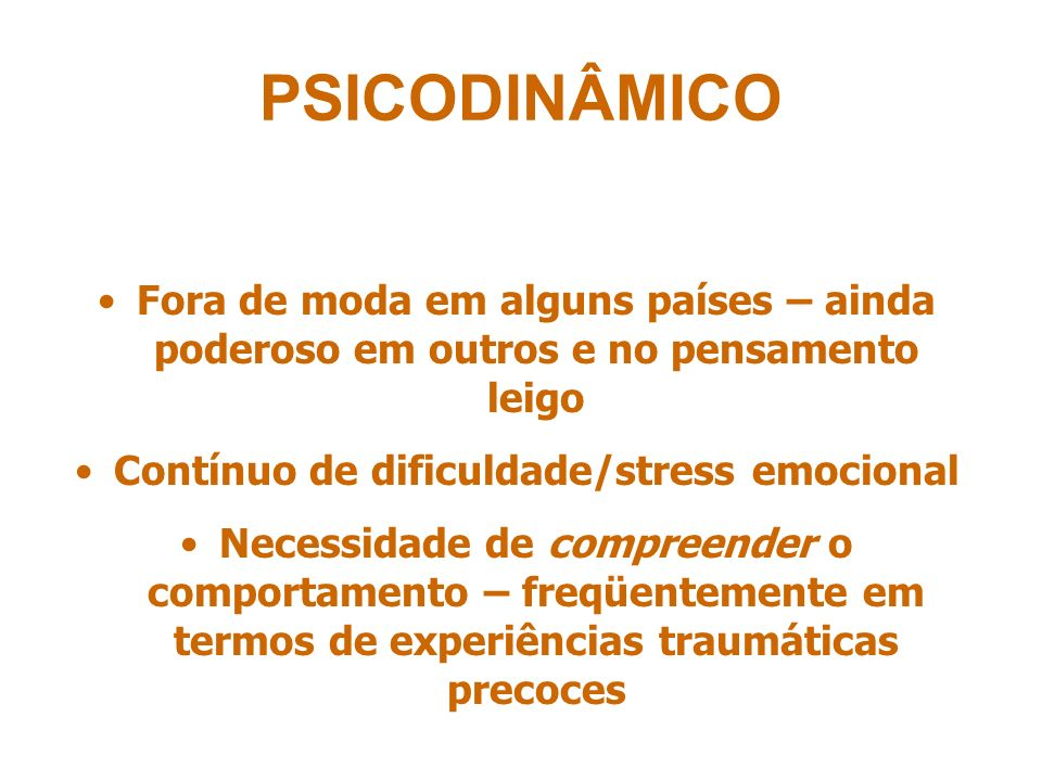 Contínuo de dificuldade/stress emocional