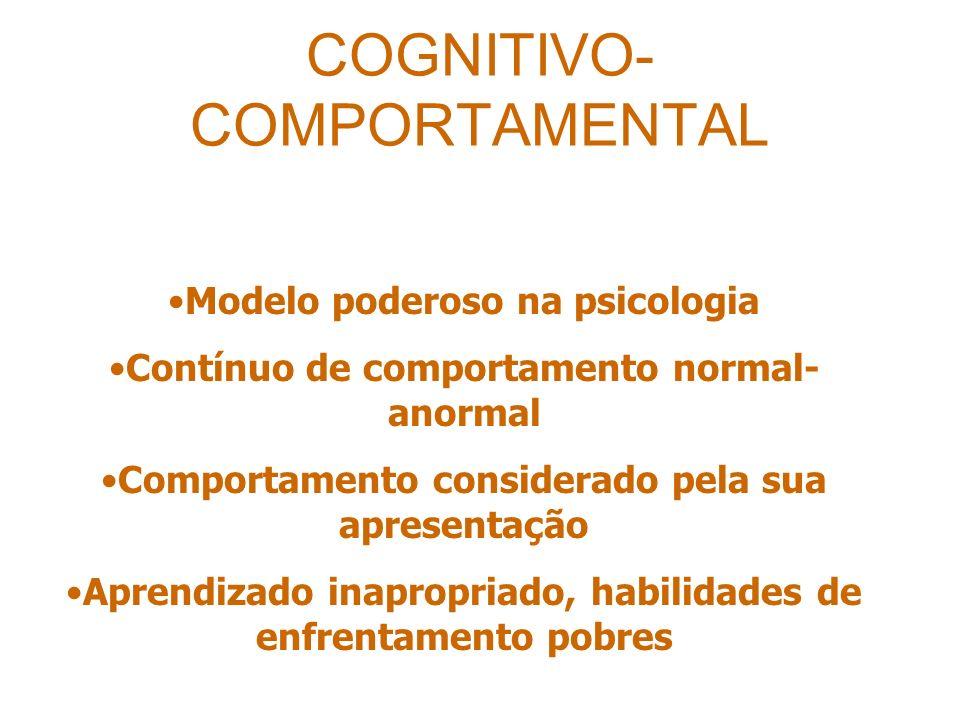 COGNITIVO-COMPORTAMENTAL