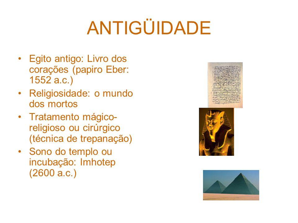 ANTIGÜIDADE Egito antigo: Livro dos corações (papiro Eber: 1552 a.c.)